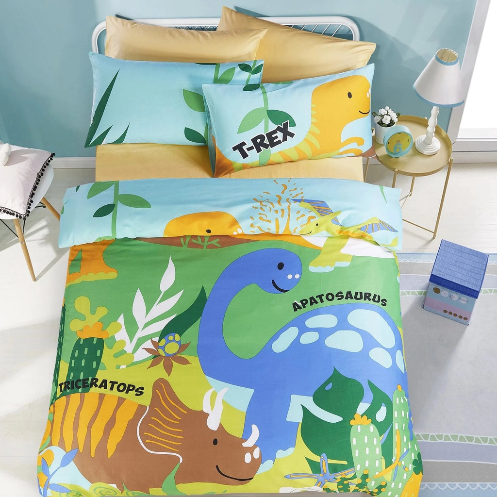 LOST WORLD - HOORAYS FITTED SHEET SET 200TC 100% COTTON
