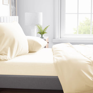 PLAIN DYE TC - PLAIN DYE TC FITTED SHEET SET 300TC 80% TENCEL™ 20% COTTON