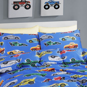 VROOM - HOORAYS FITTED SHEET SET 200TC 100% COTTON