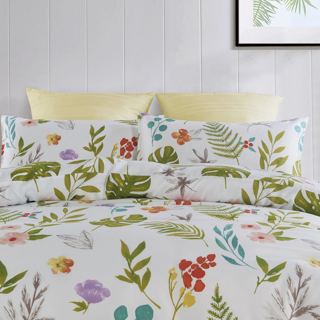 BOTANIA - CONTEMPO ATELIER QUILT COVER SET 300TC 80% TENCEL™ 20% COTTON