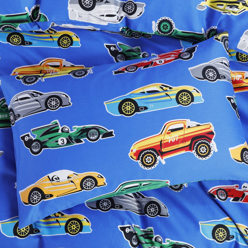 VROOM - HOORAYS QUILT COVER SET 200TC 100% COTTON