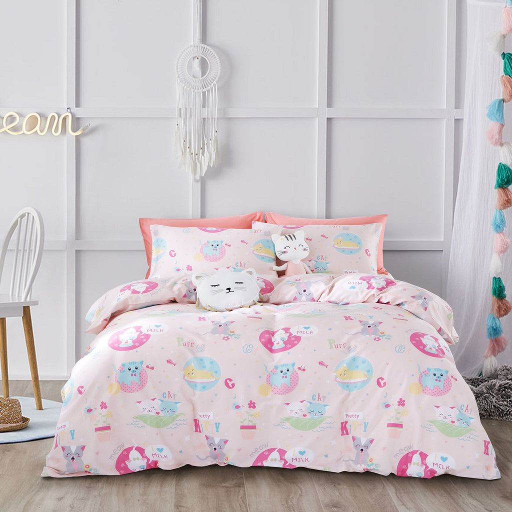 CUTE KITIES - HOORAYS QUILT COVER SET 200TC 100% COTTON