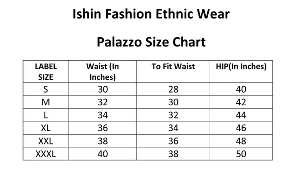 Ishin Women's Black Cotton Gota Patti Work Sharara Palazzo