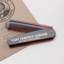 Load image into Gallery viewer, Captain Fawcett Folding Pocket Beard Comb