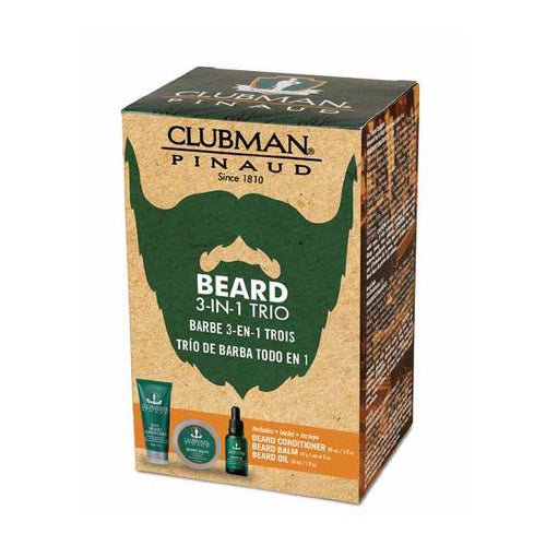 Clubman Pinaud Beard Trio 3 in 1 Gift Pack