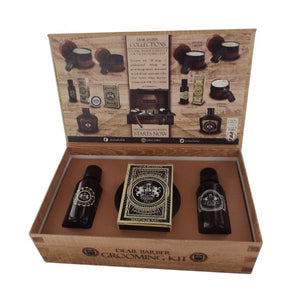 Dear Barber Beard Groom & Go Gift Collection - Beard Oil, Moustache Wax & Fragrance