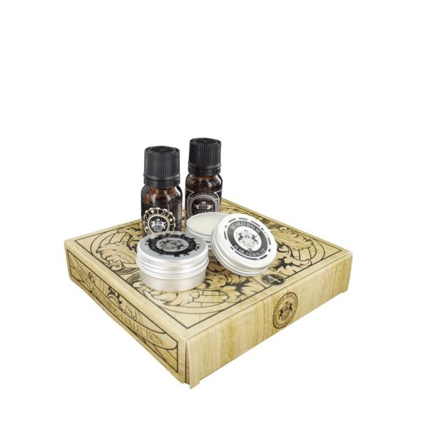 Dear Barber Beard Grooming Kit - Moustache Wax, Beard Balm, Beard Oil & Fragrance Travel Kit