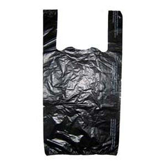 Plastic T-Shirt Bag -Black