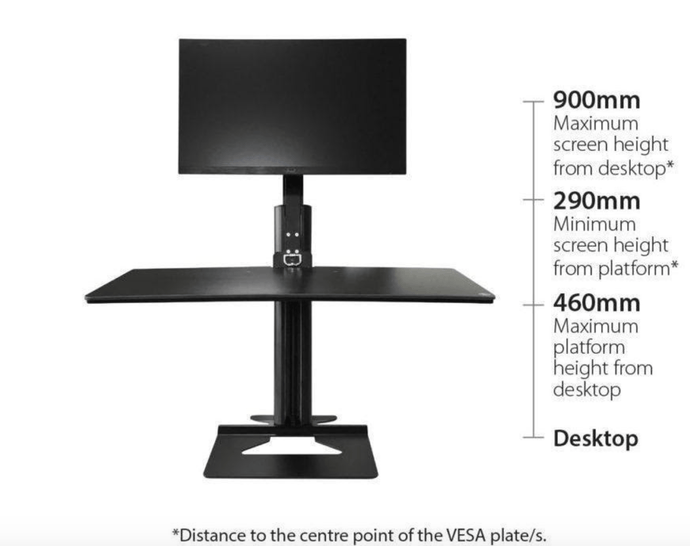 How to Convert any Horizontal Surface into a Sit/Stand Desk with Monitor Arm