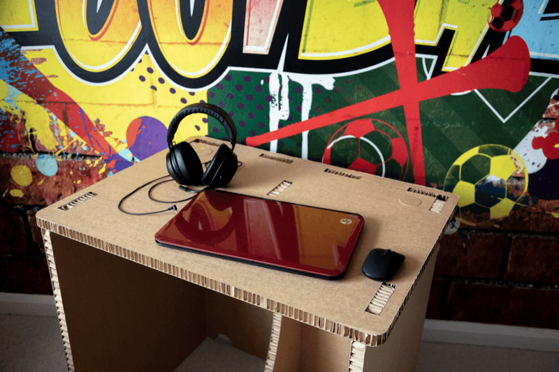 Introducing our 100% Recyclable Cardboard Desk