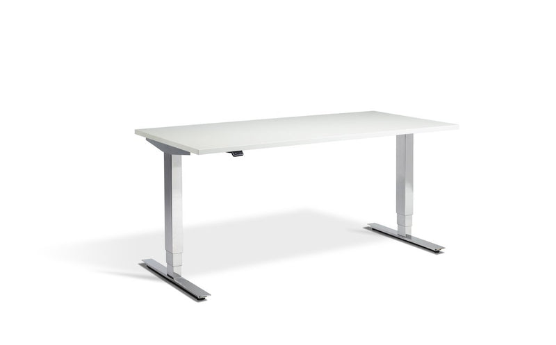 Lavoro Cromo Dual Motor Sit-Stand Desk - 800mm Deep Desktops - Chrome Frame - e-furniture