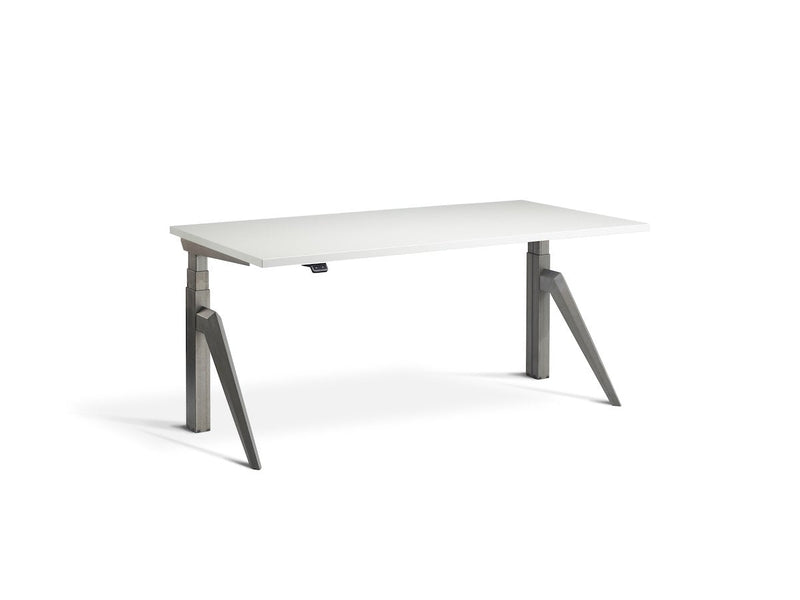 Lavoro Five Dual Motor Sit-Stand Desk - 700mm Deep Desktops - Raw Steel Frame - e-furniture