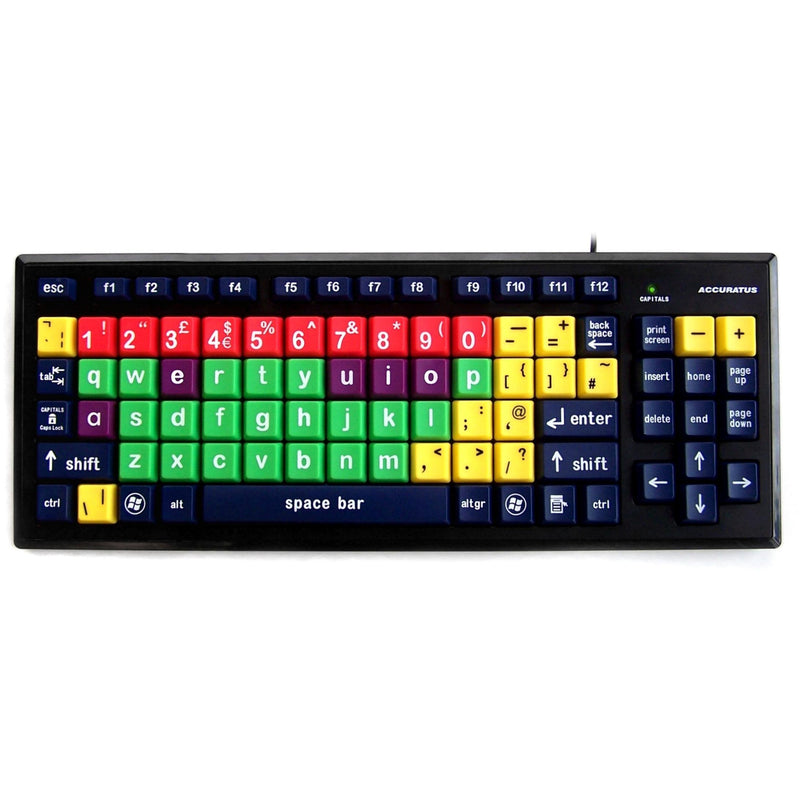Accuratus Multi-Coloured Educational Key Monster Keyboard - Lower Case - e-furniture