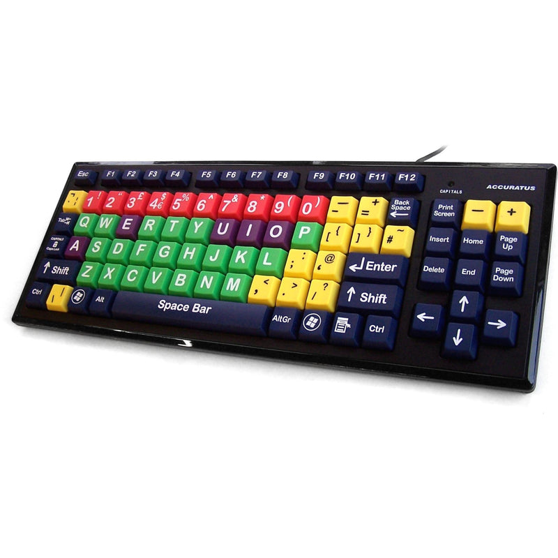 Accuratus Multi-Coloured Educational Key Monster Keyboard - e-furniture