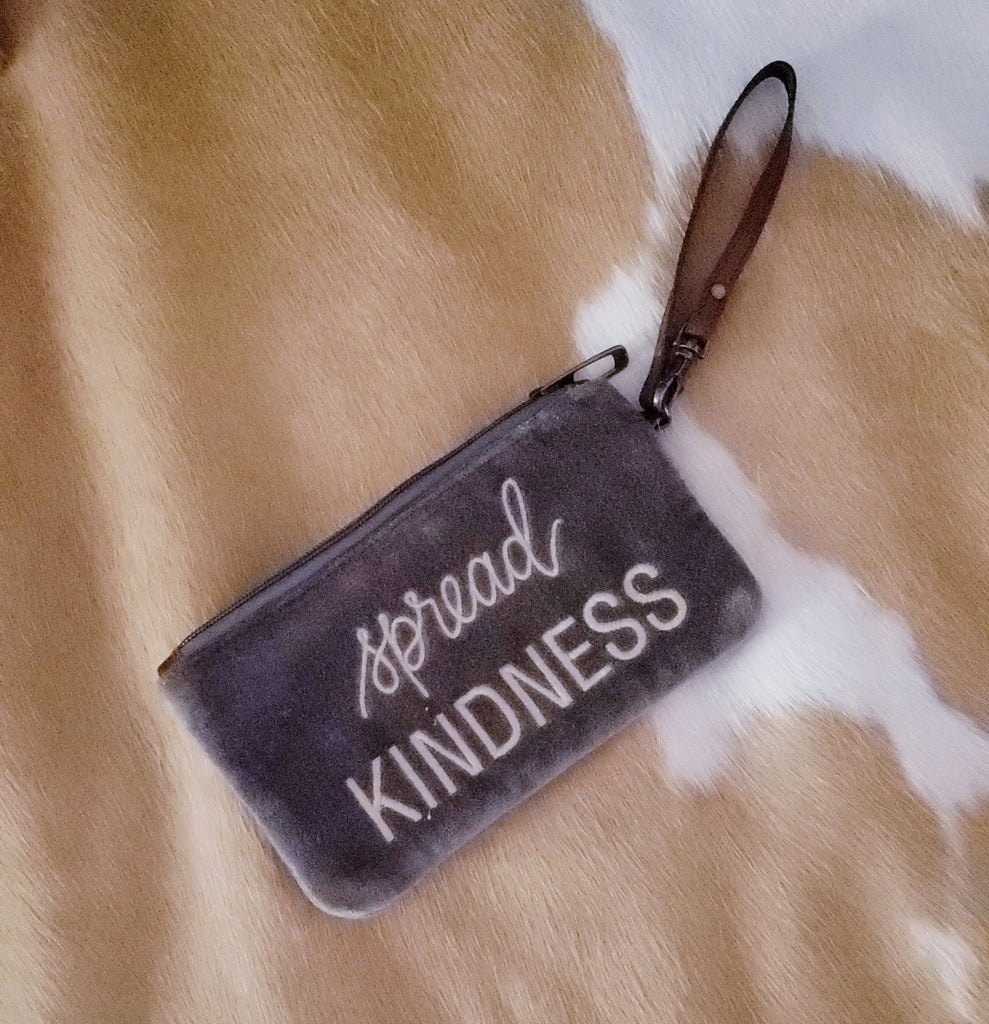 """Spread Kindness"" Plush Wristlet"