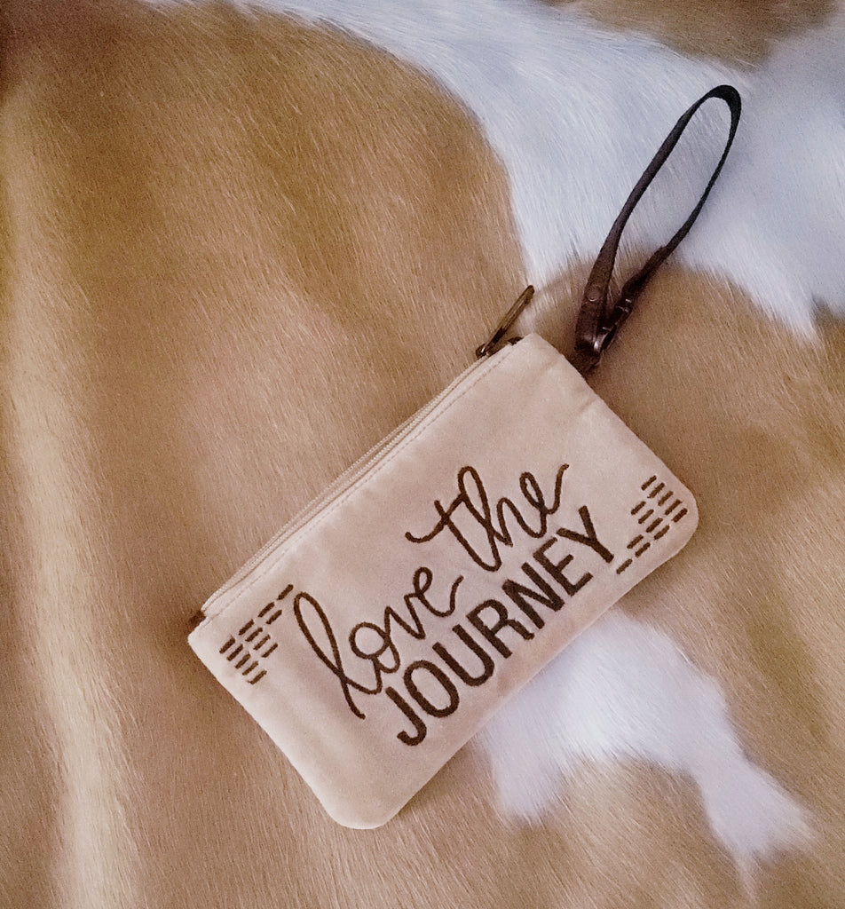"""Love the Journey"" Plush Wristlet"