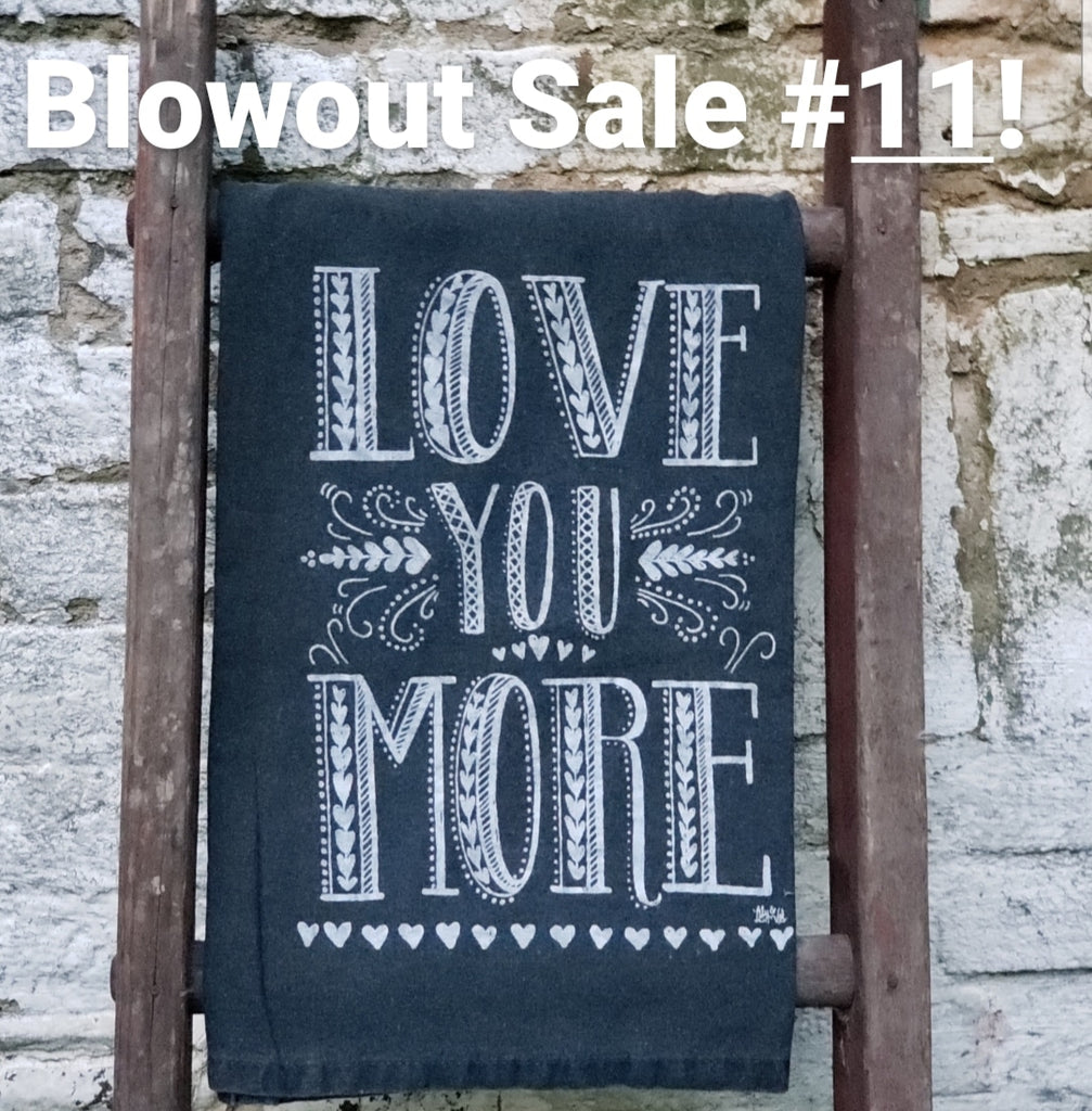 Blowout Sale #11! Get TWO Black Flour Sack Towels!