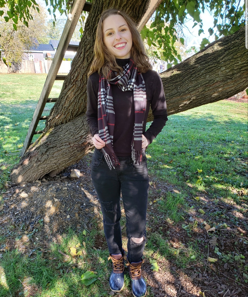 BLOWOUT SALE #12! Black English Plaid Scarf