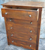 Reclaimed Barnwood Tall 5 Drawer Dresser