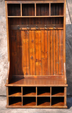 Reclaimed Barnwood Mudroom Piece without Door