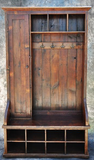 Reclaimed Barnwood Mudroom Piece with Door
