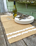 Burlap Runner with Flirty Ruffle