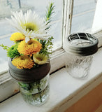 Adorable Mason Jar Floral Frog