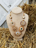 Glorious Medallion Beaded Statement Necklace