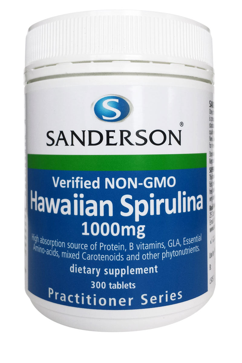 Verified non-GMO Hawaiian Spirulina 1000mg Tablets