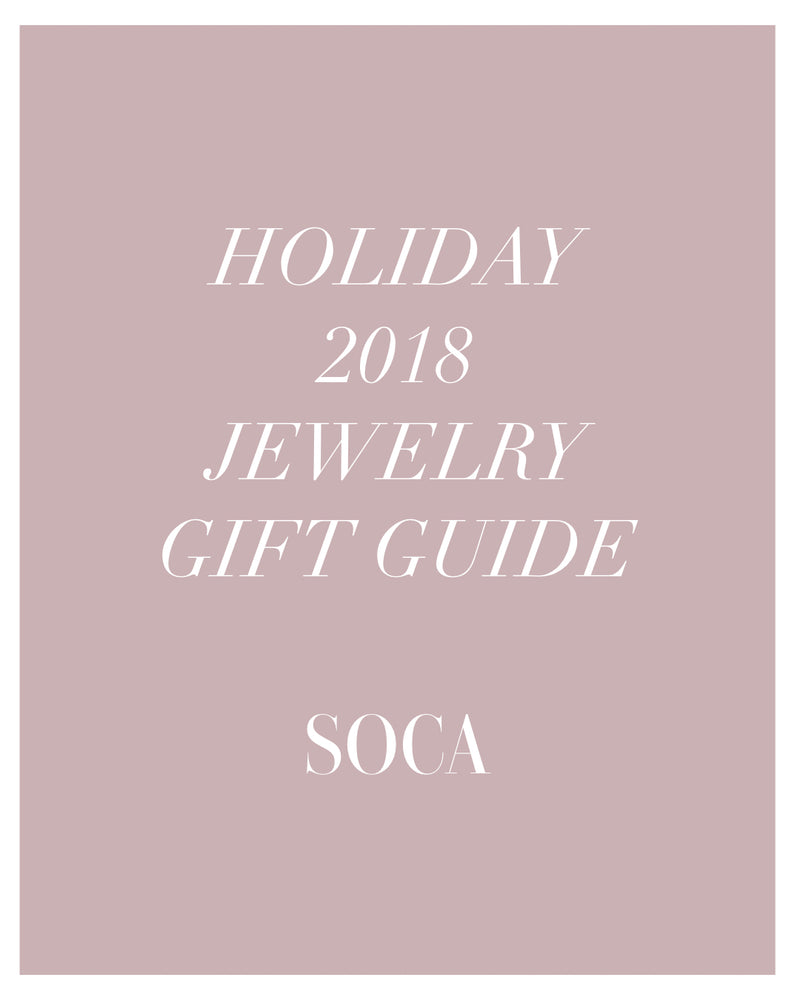 Soca Clothing Holiday Jewelry Gift Guide 2018