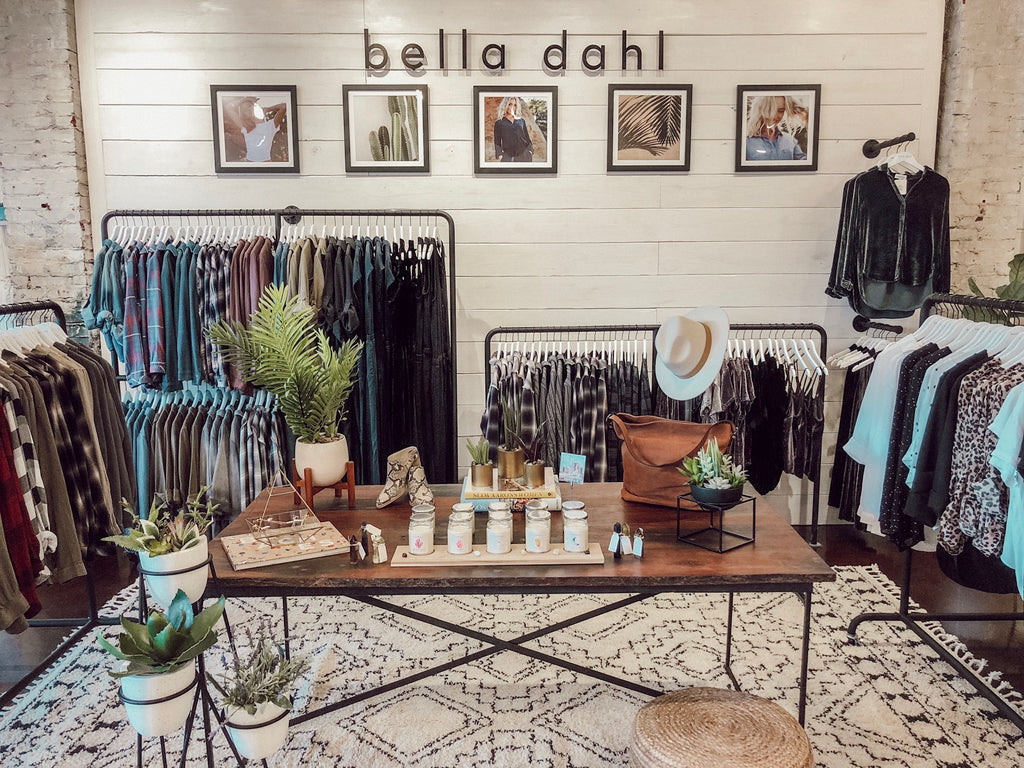INTRODUCING SOCA CLOTHING'S EXCLUSIVE BELLA DAHL SHOP IN SHOP!