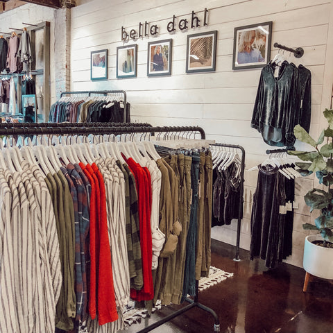Bella Dahl Shop in Shop at Soca Clothing, Birmingham, Alabama