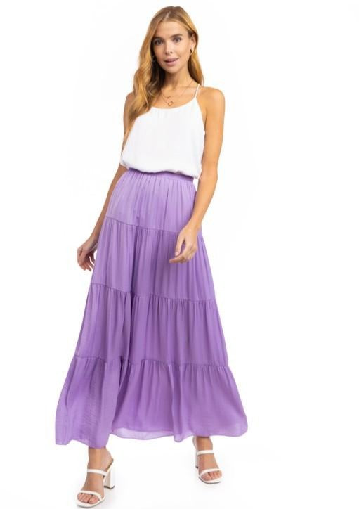 Maxi Flare Tiered Skirt