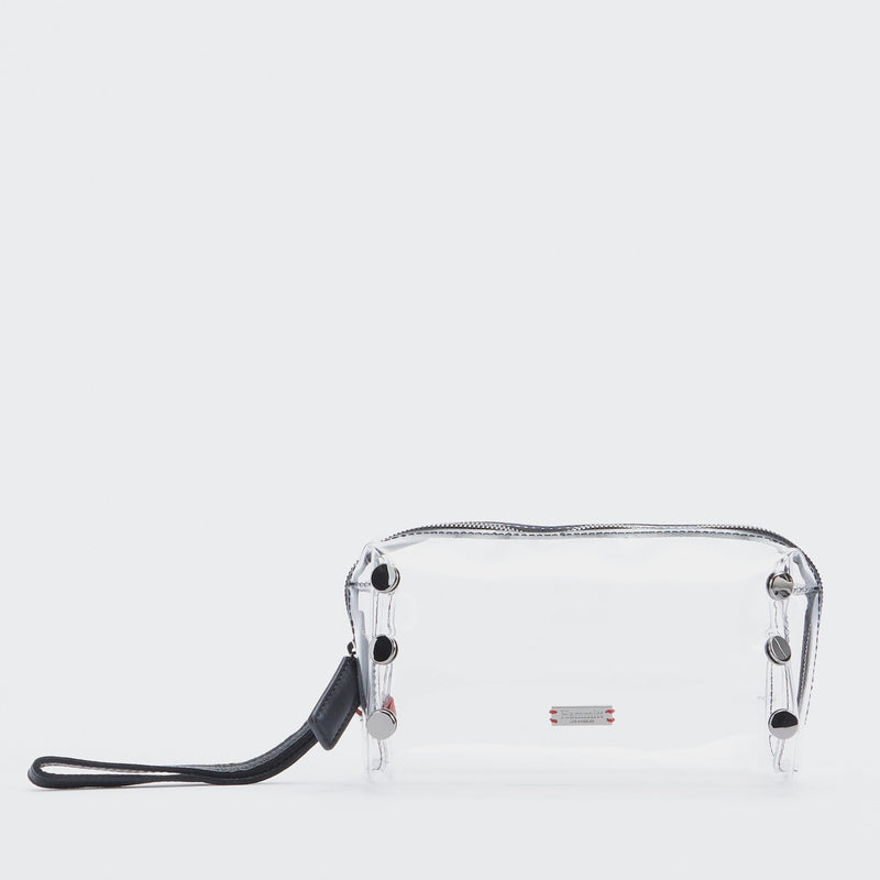 Make Up Bag - Clear Black