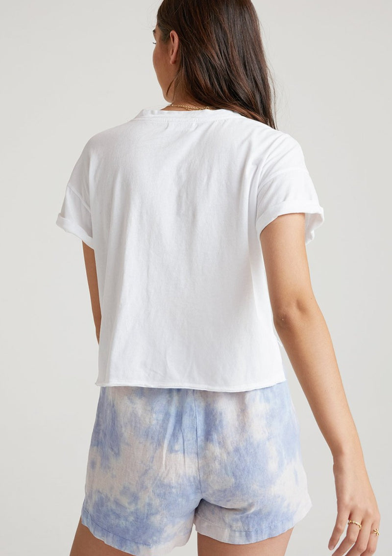 Belted Button Front Short  Galaxy Tie Dye XS