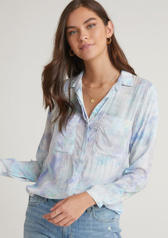 Raglan Sleeve Button Down