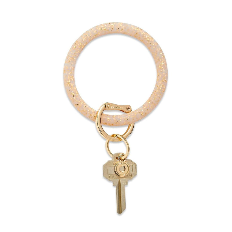 Gold Rush Confetti Silicone Key Ring