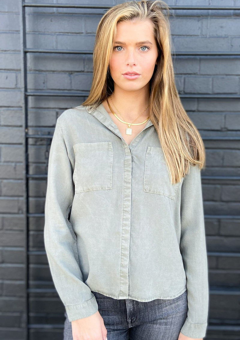 Two Pocket Button Down Top