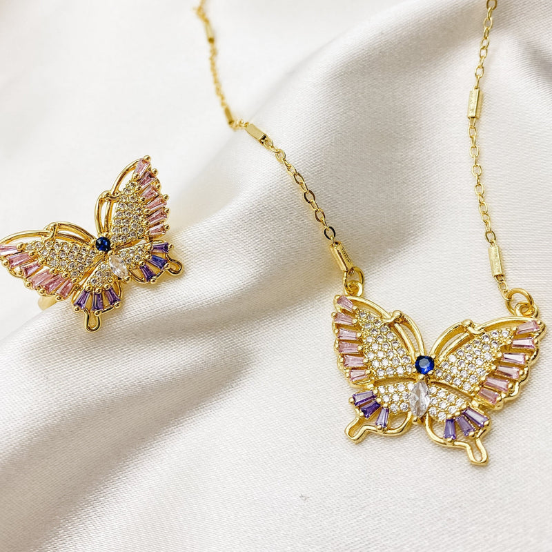 "Sofie 16"" 18K Gold Plated Butterfly Necklace"