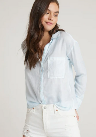 Button Down Shirt - Ombre Blues XS