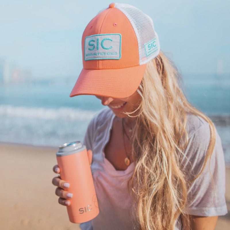 Slim Can Cooler - Matte Coral