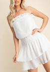 Tube Smocked Mini Dress