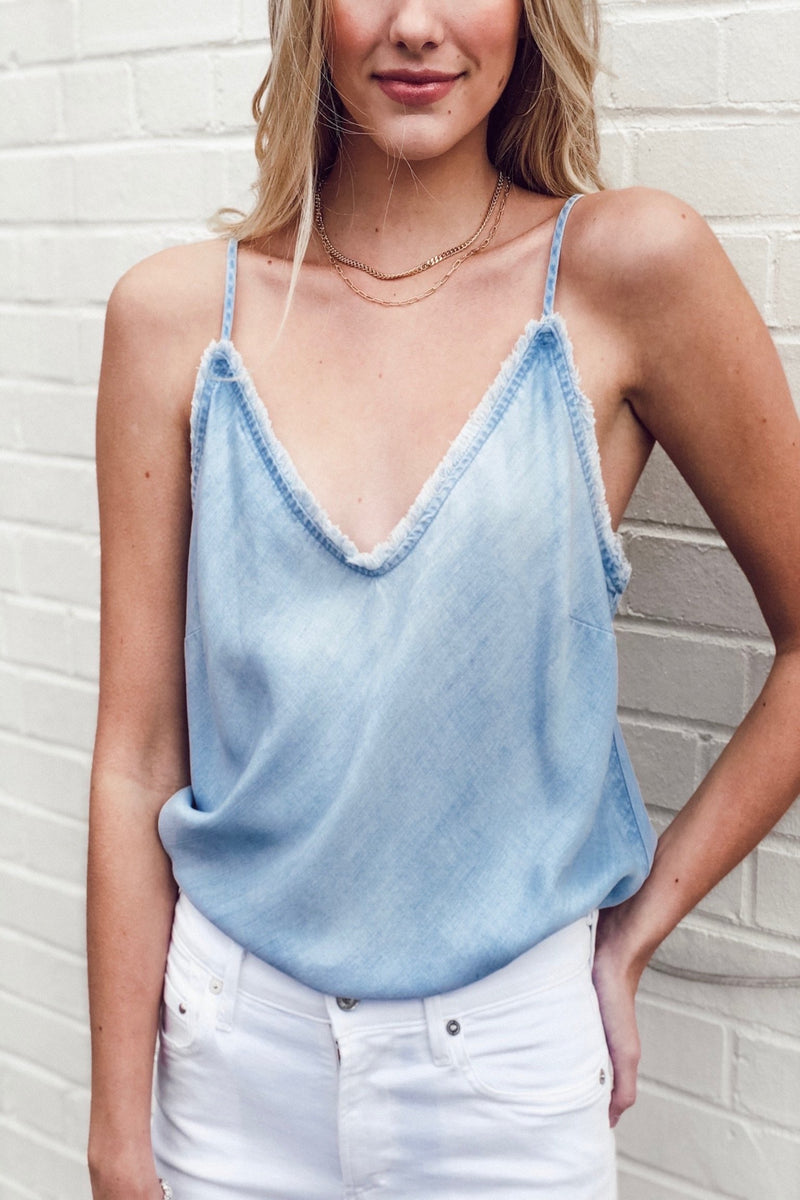Sun Bleach Frayed Cami