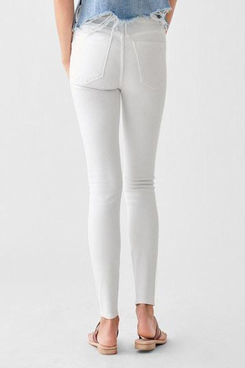 Florence Ankle Mid Rise Skinny in Milk