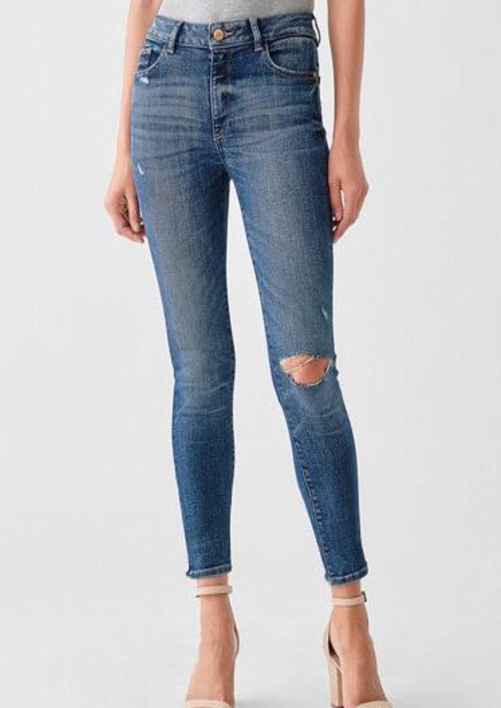 Florence Ankle Mid Rise Skinny in Hamilton