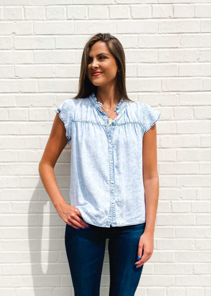 Ruthie Short Sleeve Button Down Top