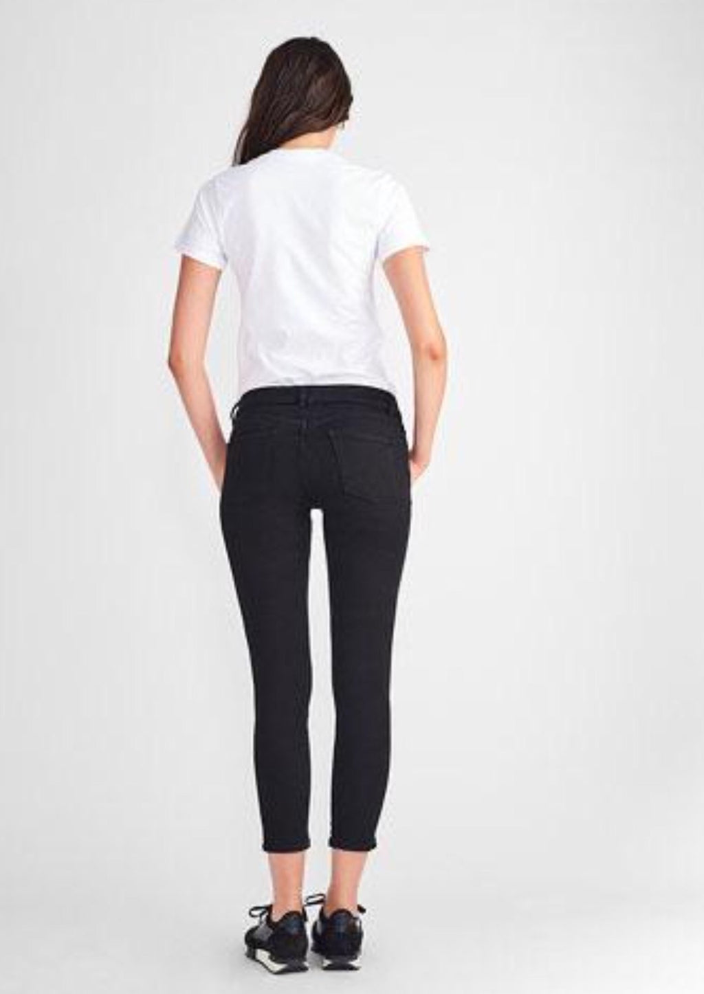 Florence Crop Mid Rise Skinny in Hail