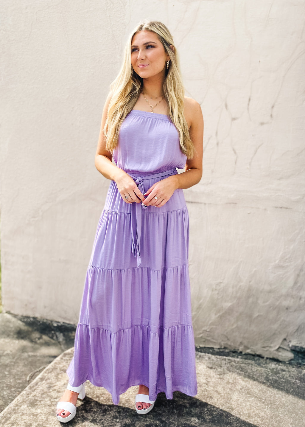 Maxi Tiered Dress with Elastic Waist