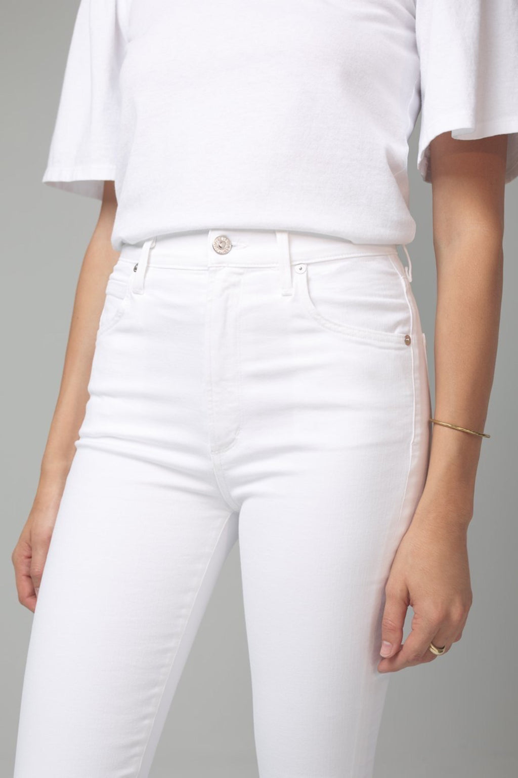 Chrissy High Rise Skinny in White Sculpt