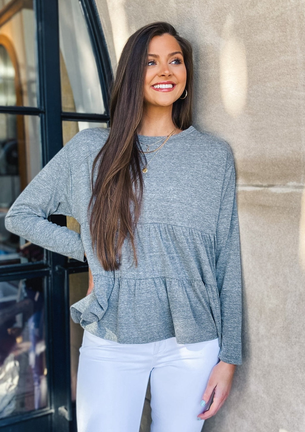 Tiered Long Sleeve Top